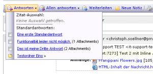 CS-Ticket: Antworten-Funktion