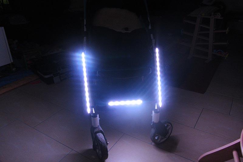 buggylight kinderwagenlicht schwarz doppelpack 2 st ck sehen und gesehen werden mit dem. Black Bedroom Furniture Sets. Home Design Ideas